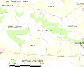 Mapa obce Ouilly-du-Houley