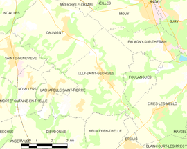 Mapa obce Ully-Saint-Georges