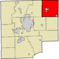 Map highlighting Haw Creek Township, Bartholomew County, Indiana.png