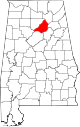 Map of Alabama highlighting Blount County.svg