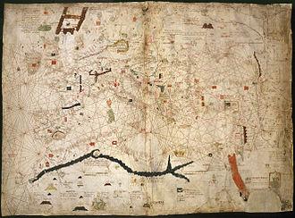 Angelino Dulcert - Map of Angelino Dulcert