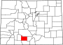 Map of Colorado highlighting Rio Grande County.svg
