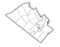 Map of Fountain Hill, Lehigh County, Pennsylvania Highlighted.png