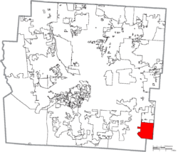 Location of Canal Winchester in Franklin County