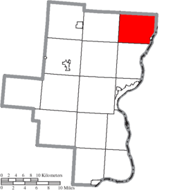 Location of Cheshire Township in Gallia County