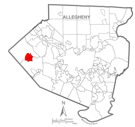 Map of Imperial-Enlow, Allegheny County, Pennsylvania Highlighted.png