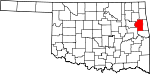 State map highlighting Cherokee County