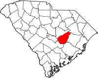 Map of Јужна Каролина highlighting Clarendon County