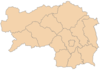 Map of Styria, districts (2015)