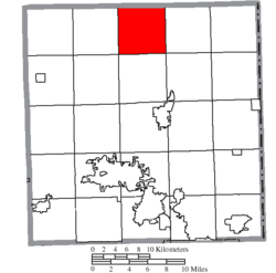 Location of Greene Township in Trumbull County
