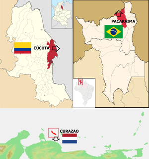 Map of humanitarian aid to Venezuela.png