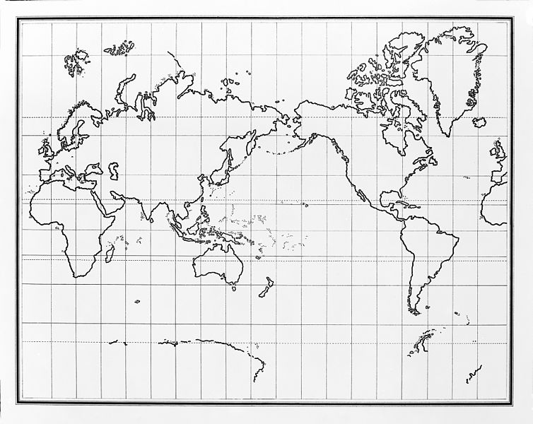 File:Map of the world in outline, with pacific in centre. Wellcome M0008940.jpg