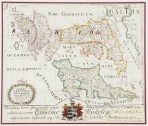 Charles Bertram - Bertram's 1755 engraved map.