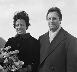 Carlo Maria Giulini - Marcella de Girolami and Carlo Maria Giulini in the Netherlands in 1965