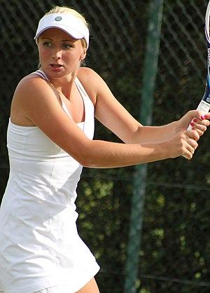 Diāna Marcinkēviča - Marcinkēviča at the 2014 Wimbledon<br/>qualifying tournament