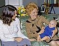 Margaret Sinclair, Pat Nixon, Justin Trudeau 1972-04-14 (cropped).jpg
