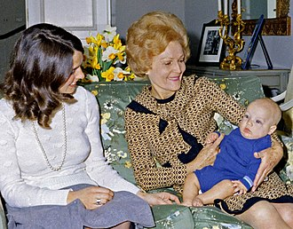 Justin Trudeau - Three-month-old Justin Trudeau at Rideau Hall with his mother (left) and U.S. First Lady Pat Nixon, April 14, 1972