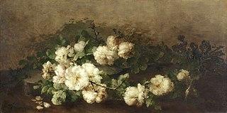 Stilleven met gitaar en rozen