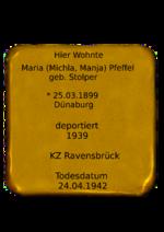 Maria (Michla, Manja) Pfeffel