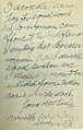 Marilla Ricker, Inscription in The Four Gospels, 1913.jpg