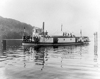Steamboats of the Arrow Lakes - ''Marion'' somewhere in inland British Columbia ca 1890