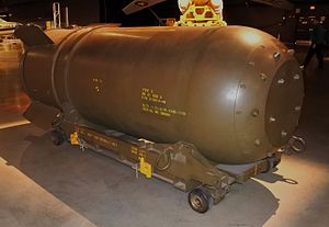 B41 nuclear bomb - Mark 41 thermonuclear bomb casing at the National Museum of the United States Air Force.