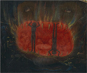 Visio Tnugdali - The Mouth of Hell, by Simon Marmion, from the Getty Tondal, detail