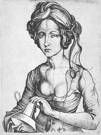 Martin Schongauer - A Foolish Virgin