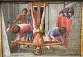 Masaccio, predella con martirio dei ss. pietro e g. battista, 1426, 02.JPG
