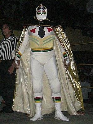 El Alebrije (wrestler) - The original Máscara Sagrada, El Alebrije wore an identical outfit when he played the part.