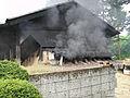 Mashiko kilntop smoke.jpg