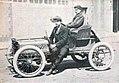 Masson, vainqueur de la catégorie Voiturettes sur Clément, au Paris-Madrid 1903.jpg