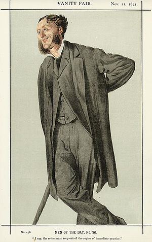 Matthew Arnold - Caricature by James Tissot published in Vanity Fair in 1871.