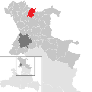 Location of the Mattsee municipality in the St. Johann im Pongau district (clickable map)