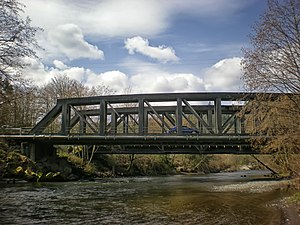 Puyallup River - Bridge across the river at McMillin, Washington