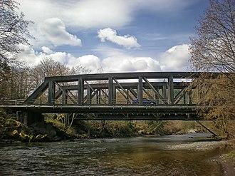 Puyallup River - Bridge across the river at McMillin, Washington