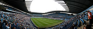 History of Manchester City F.C. (2001–present) - City moved into the City of Manchester Stadium in 2003 at a cost of £50M plus an approximate £2M-per-season payment