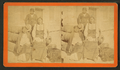 Medicine Water, and wife Mocchi, with Romeo, the Cheyenne interpreter, in native costume, confined in Fort Marion, St. Augustine, Florida, from Robert N. Dennis collection of stereoscopic views.png