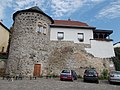 Medieval city walls and round tower. Listed ID 7497. - Vác.JPG