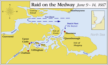 Chatham England Map.Raid On The Medway Wikipedia