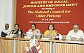 Meira Kumar chairing the Meeting of the National Council for Older Persons, in New Delhi on July 26, 2006. The Minister of State for Social Justice and Empowerment, Smt. Subbulakshmi Jagadeesan is also seen.jpg