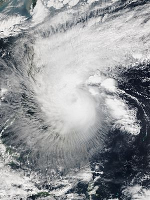 2015 Pacific typhoon season - Image: Mekkhala 2015 01 17 0414Z