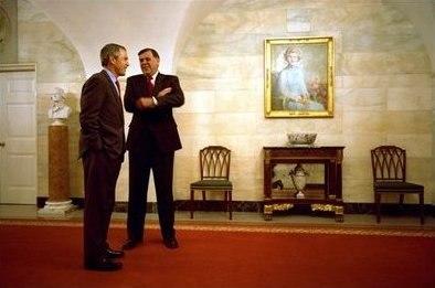 Mel Martinez and George W. Bush 2002