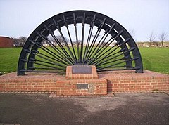 Memorial Pit Wheel Shotton Colliery - geograph.org.uk - 662090.jpg