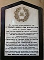 Memorial to Lt Col Andrew John Macpherson in Rochester Cathedral.jpg