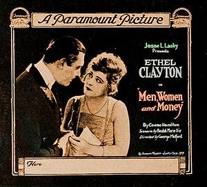 Men, Women, and Money - Lantern slide