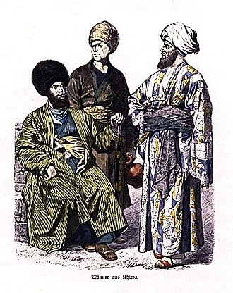 Central Asia - Uzbek men from Khiva, ca. 1861–1880