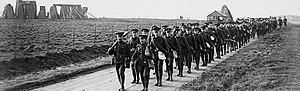 10th Battalion (Canadians), CEF - Men of the 10th (Alberta) Battalion pass Stonehenge