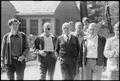 Menahem Begin with members of his Israeli delegation at Camp David. - NARA - 181289.tif