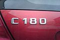 Mercedes-Benz written character C 180 bordeaux.jpg